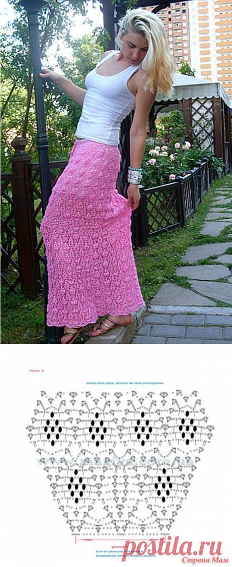 Юбка в пол крючком+СХЕМА. Длинная юбка крючком со схемами   Вязание для всей семьи
