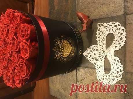 Ажурная Новогодняя маска связанная крючком.  Подробный видео МК по ссылке