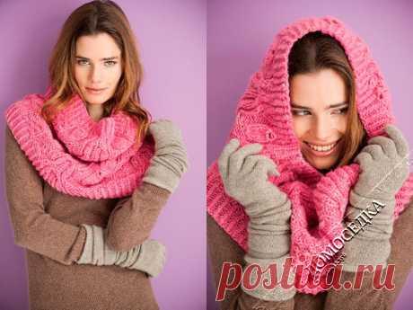 Модные шарфы-СНУДЫ (Snood) спицами. Идеи и описания.13 моделей.