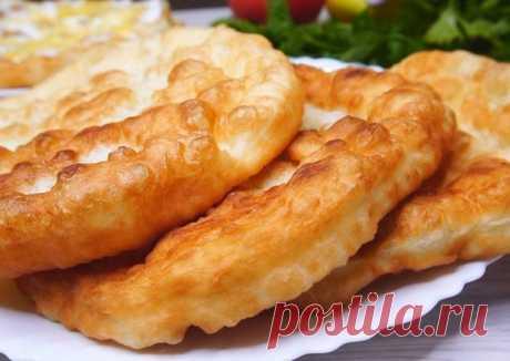 Лангош - пышная дрожжевая лепешка Автор рецепта kalnina - Cookpad