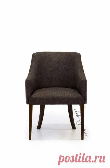 Кресло коричневое тканевое Глори из массива бука: модельный ряд, классический стиль.