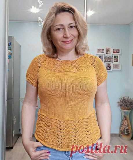 Вдохновение от инстаграмных мастериц: красивые футболки спицами с описанием и схемами   Paradosik_Handmade   Яндекс Дзен