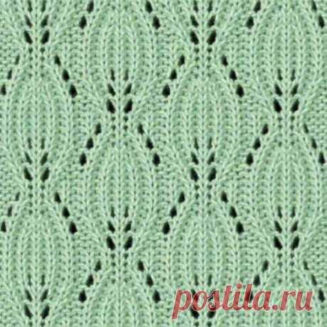 Подборка из красивых вариантов узора «Листья» для вязания спицами   Сундучок с подарками   Яндекс Дзен