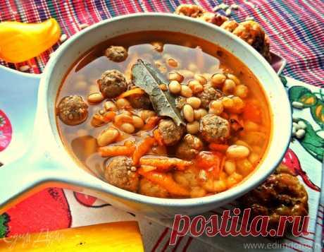 Фасолевый суп с фрикадельками | Официальный сайт кулинарных рецептов Юлии Высоцкой
