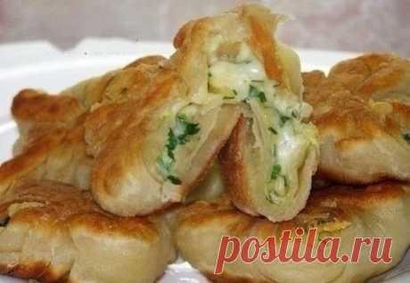 Как приготовить кефирные конвертики с сыром - рецепт, ингредиенты и фотографии
