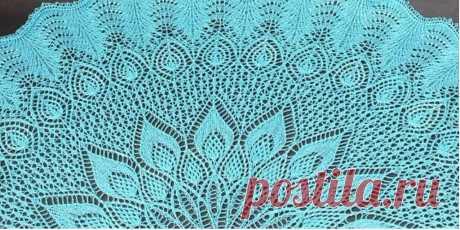 Красивая круглая ажурная шаль Green Gables Шарфы и шали спицами и крючком со схемами и подробными описаниями. На нашем сайте большая коллекция шалей, пуховые или старинные, палантины, шарфы спицами теплые и шелковые крючком.