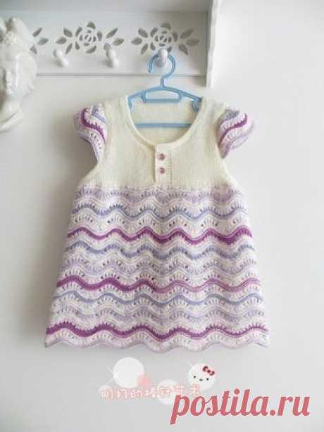 El vestido infantil por los rayos