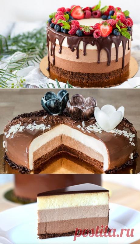 Раскрываем секреты приготовления торта Три шоколада