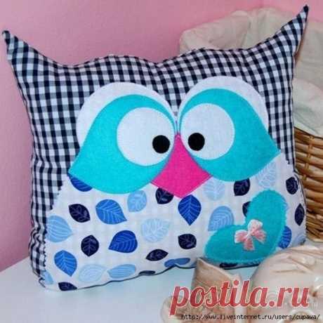 Las almohadas entretenidas sovushki. Las ideas para la inspiración.