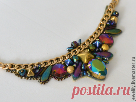 We create a smart necklace on a chain - the Fair of Masters - handwork, handmade