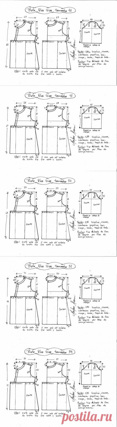 Выкройка блузки для полных женщин (Шитье и крой) — Журнал Вдохновение Рукодельницы
