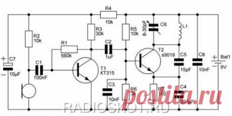 Жучок на двух транзисторах