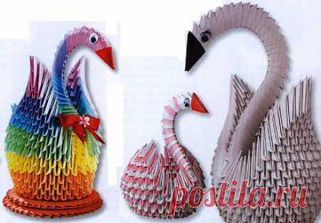 Los cisnes del origami   con los bigotes