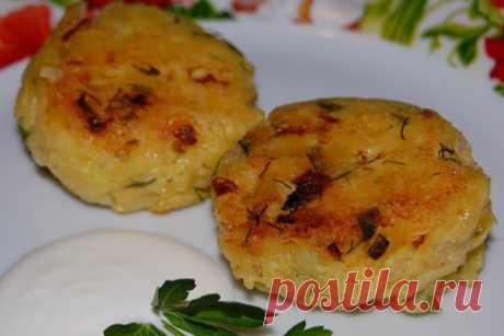 Котлеты из картофеля с сыром