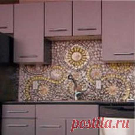Кухонный фартук из мозаики   РЕМОНТ-УЗЕЛ Кухонный фартук из мозаики – отличный вариант. Выясним, как рассчитать необходимое количество материала, спланировать рисунок и выполнить укладку фартука