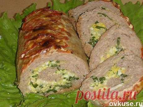 Мясной рулет с зеленым луком и яйцами. - Простые рецепты Овкусе.ру