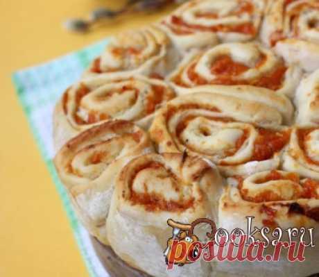 """Пирог на картофельном отваре """"Абрикосинка"""" фото рецепт приготовления"""