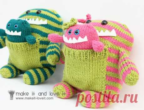 Knitted Monsters from Christmas... | Make It and Love It