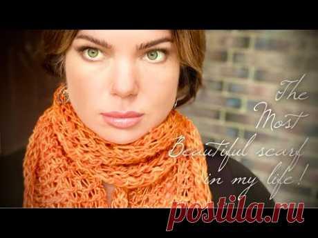 Самый красивый шарф спицами «KARMA»! Подробный МАСТЕР-КЛАСС! 🍁🍁🍁 Beautiful knitting scarf design