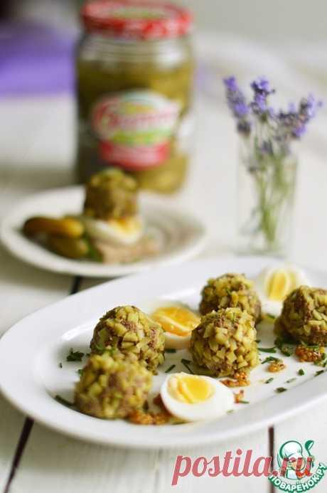 Закуска из печени и маринованных огурцов - кулинарный рецепт