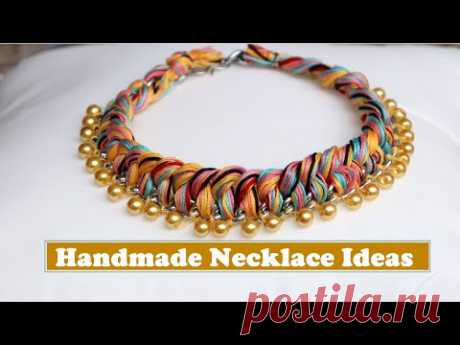 How To Make Necklaces At Home | Handmade Necklace Ideas | DIY Jewellery Making | Creation&you