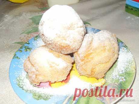 Мраморные пончики с курагой, из плавленого сыра - Сладкие пироги и кексы