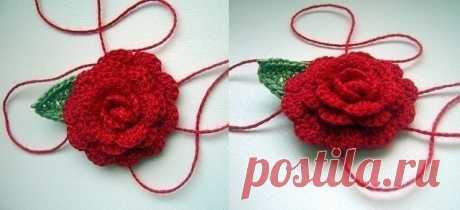 Объемная роза крючком из категории Интересные идеи – Вязаные идеи, идеи для вязания