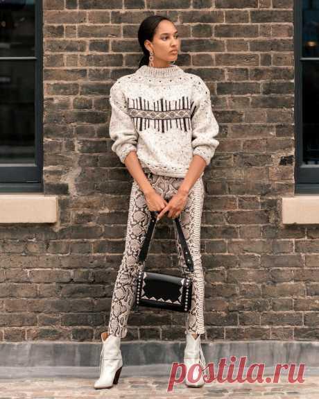 Модный свитер от французского дизайнера Isabel Marant. СХЕМА ЖАККАРДА и разбор по фото! | ЖаккардуДА! | Яндекс Дзен