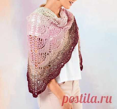 Красивые шали. Вязание крючком | Марусино рукоделие | Пульс Mail.ru 19 моделей