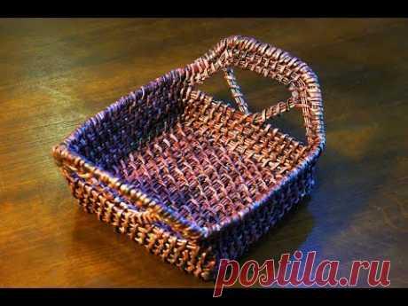 Como tejer el canastillo rectangular