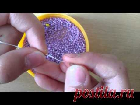 How to weave a lilac out of beads (part 1\/2