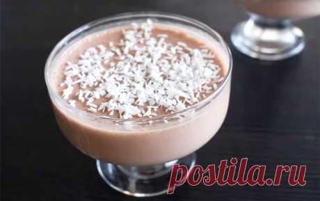 Диетический десерт из ряженки и какао