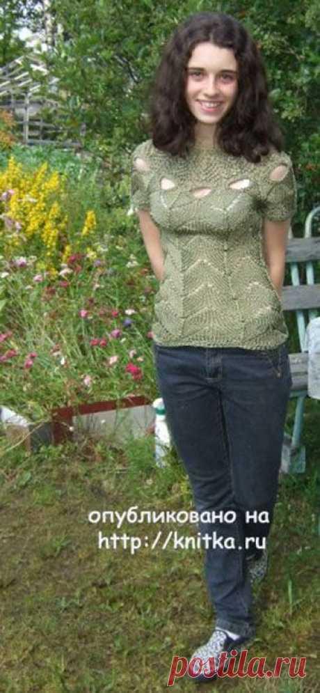 Летняя кофточка спицами – работа Марии Казановой, Вязание для женщин