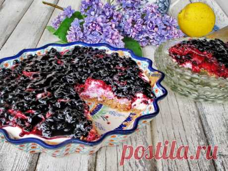 Десерт  черничный крамбль| Кошкин дом