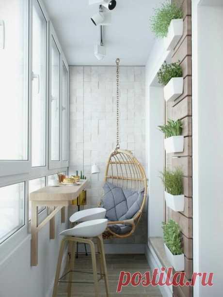 Лоджия 3 метра - это шкаф, стол и диванчик. Недорогие и простые идеи... | Дизайнер интерьера & Любитель | Яндекс Дзен