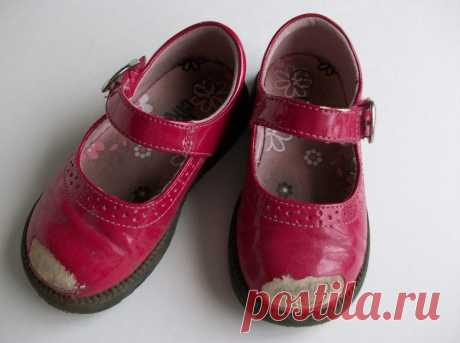 Как реанимировать детские туфли. Мастер-класс