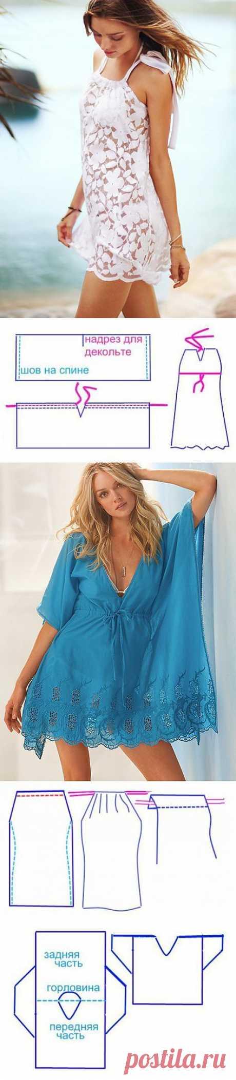 Сшить платье летнее легко — 5 моделей с выкройками | My Milady