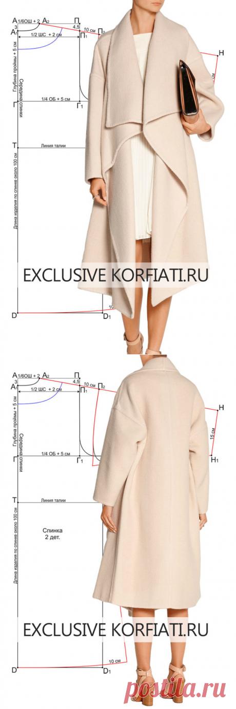 Выкройка пальто оверсайз от Анастасии Корфиати