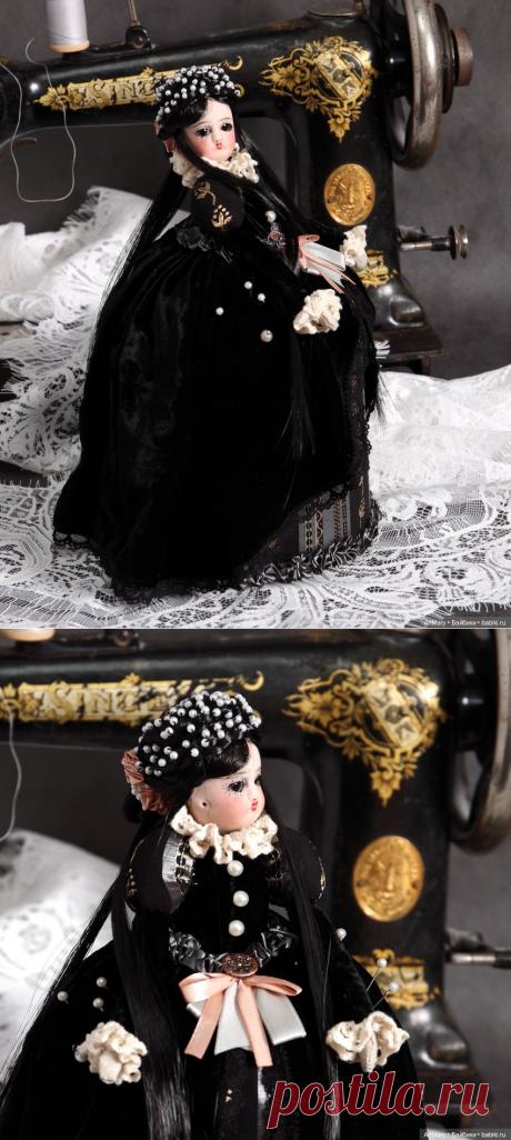 "Half doll Игольница ""Королева Марго"" из серии Recycle / Антикварная / Бэйбики. Куклы фото. Одежда для кукол"