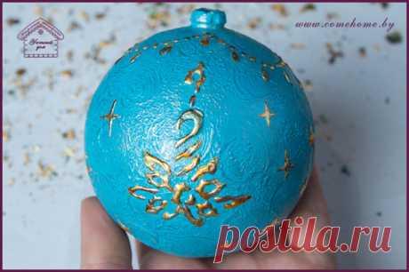 Декор елочки и шара: рельеф с гирляндами из потали | Уютный дом: декупаж и декор для начинающих