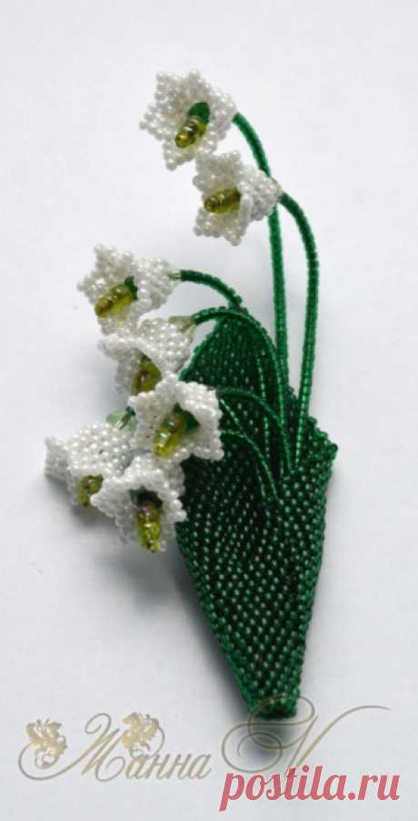 Small florets, lily of the valley, hand bell.   biser.info - all about beads and beaded creativity