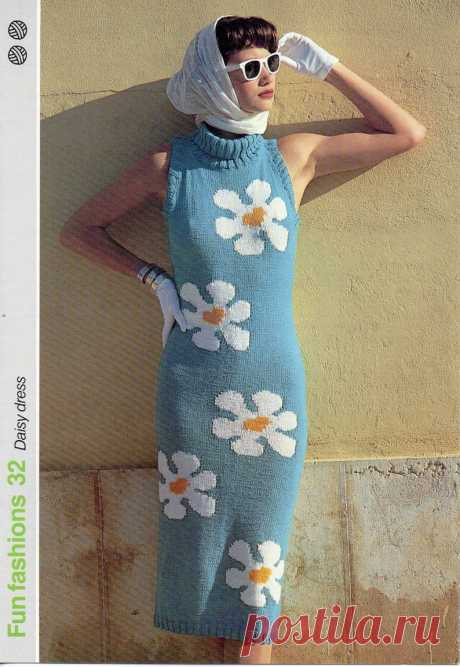 Womens dress Knitting Pattern pdf Ladies Dress Sleeveless Polo | Etsy