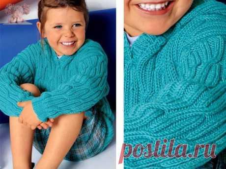 Стильный пуловер детский