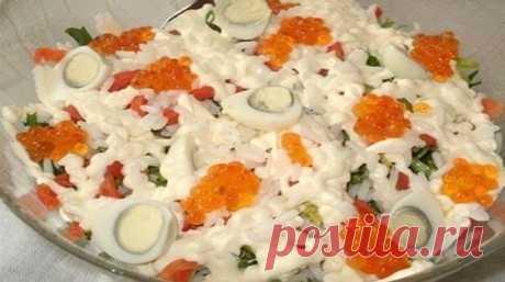 ¡La ensalada del Kremlin!! ¡Esta ensalada será central en su mesa de fiesta! La ensalada extremadamente sabrosa, nutritiva y viva con los mariscos | las obras maestras Exclusivas de la cocina.