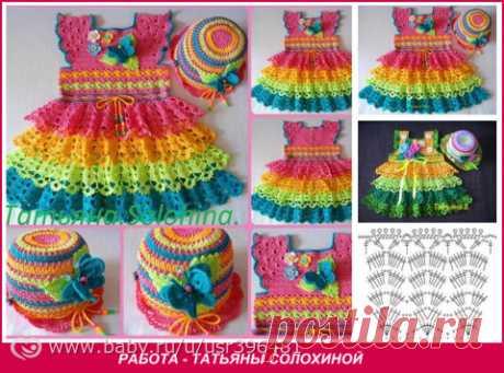 Онлайн вязание летнего платья для девочек. Стартуем!!! - Рукоделие