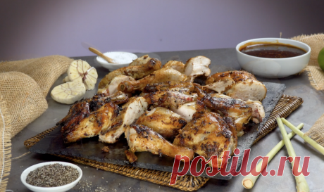 Нежная курица с маринадом по-тайски: готовим ароматное мясо в духовке или на гриле.