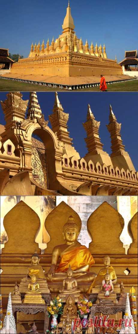Ступа Пха Тхатлуанг: золотая жемчужина Лаоса