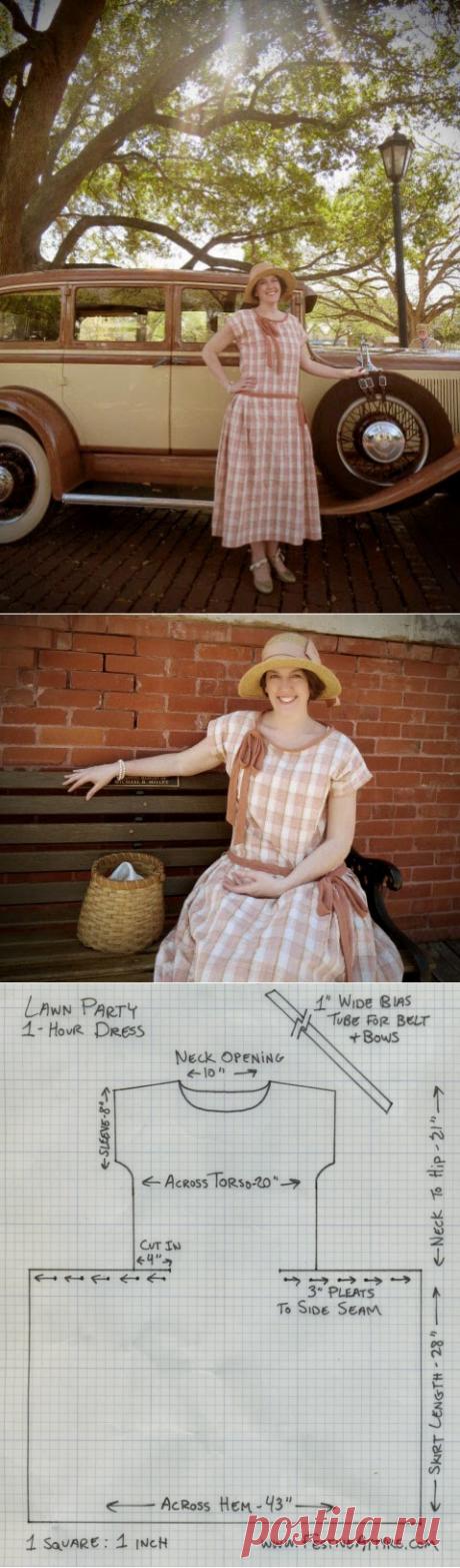 Festive Attyre: 1-hour dress, lawn party edition
