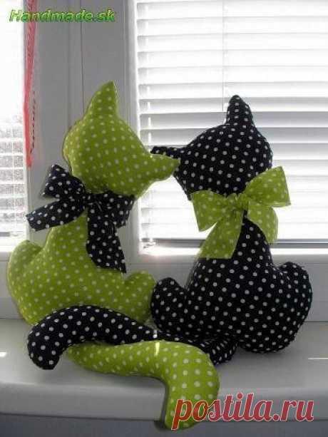 Влюбленные котики (Шьем игрушки) | Журнал Вдохновение Рукодельницы