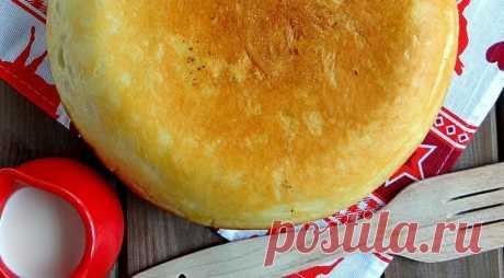 Вкусный, сытный, ароматный! Слоеный мясной пирог на сковороде — Вкусные рецепты